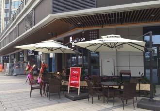 南京咖啡馆伞 罗马伞 单边伞 酒吧伞定制 印刷