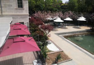 南京万景园久和喜伸缩雨棚遮阳伞户外家具